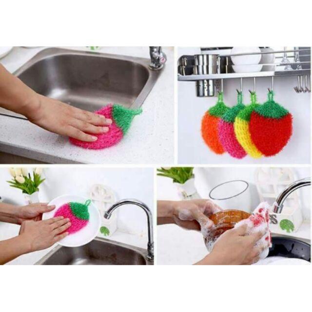 韓國草莓洗碗巾菜瓜布