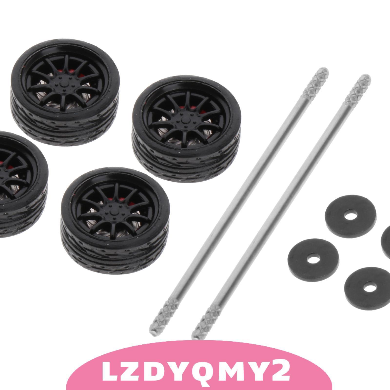 1:64型號改裝輪胎壓鑄合金車輪輪胎組型號汽車配件G1