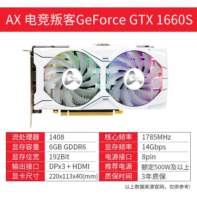 【挖礦.顯示卡】AX電競叛客RTX2060/GTX 1660Super顯卡游戲獨立顯卡電腦機箱臺式