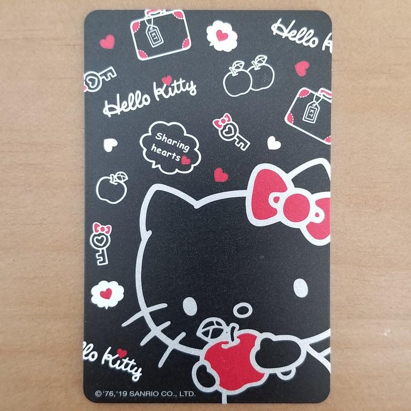 【內含200元餘額】Hello Kitty 黑色系列 FOR YOU & apple & 粉嫩金 悠遊卡  熱銷中