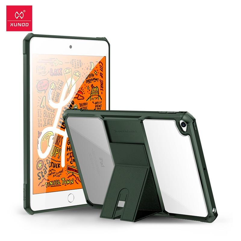 XUNDD訊迪新款ipad mini5保護套折疊隱形支架包邊防摔透明iPad mini4保護殼空壓殼