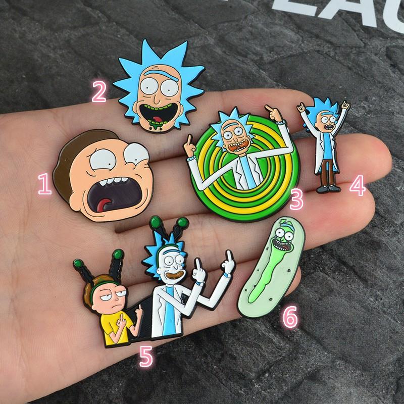 熱賣爆款歐美新款創意Rick And Morty卡通合金胸針別針徽章