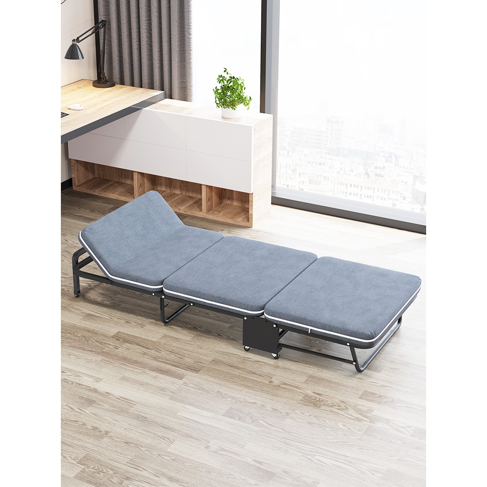 折疊床單人床辦公室午休床午睡神器家用陪護床雙人便攜木板床