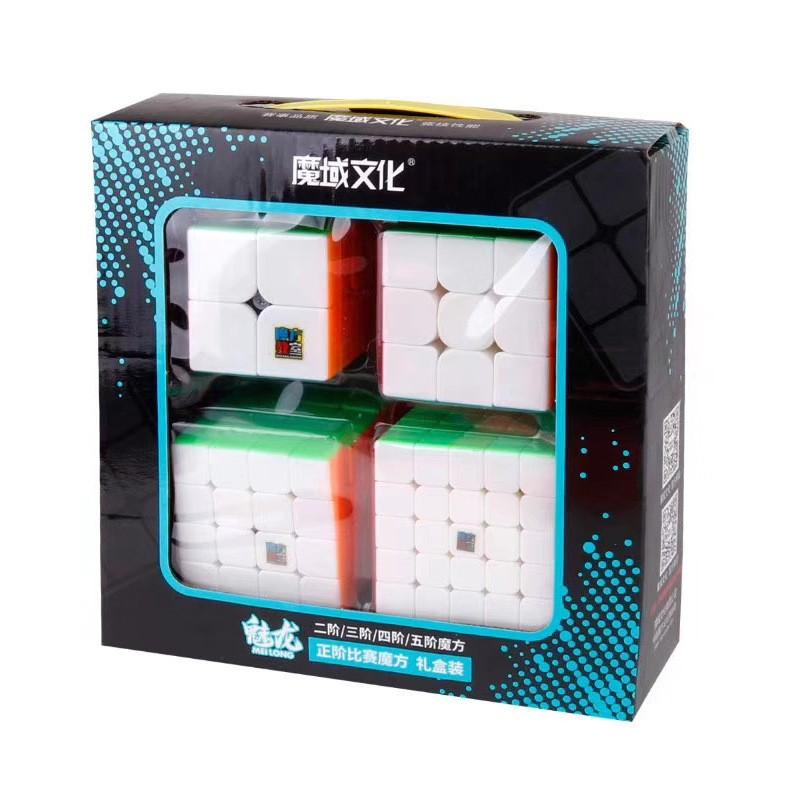 魔域魅龍二三四五階魔方組合套裝實色2345階魔方禮盒兒童益智玩具##