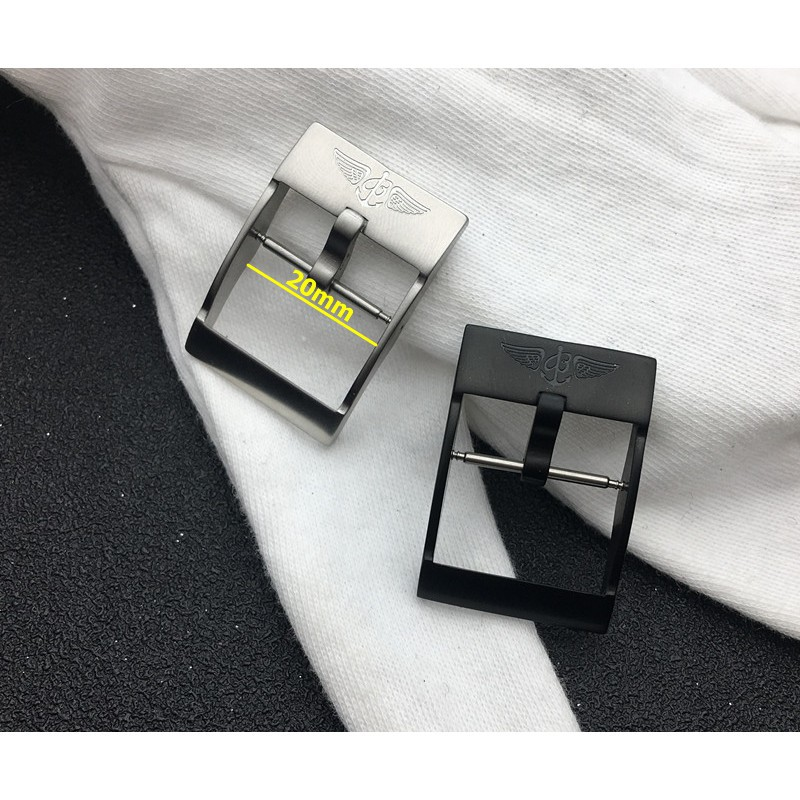 ☘️代用百年靈手表帶表扣Breitling膠帶精鋼日字扣 20mm鋼色黑色