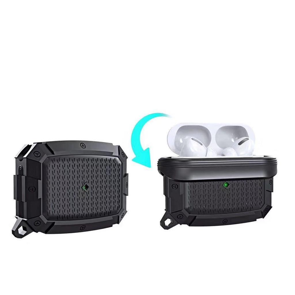 適用airpods Pro 123藍牙耳機加厚硅膠防摔防水耳機保護殼盔甲銀河UAG精品臺灣現貨