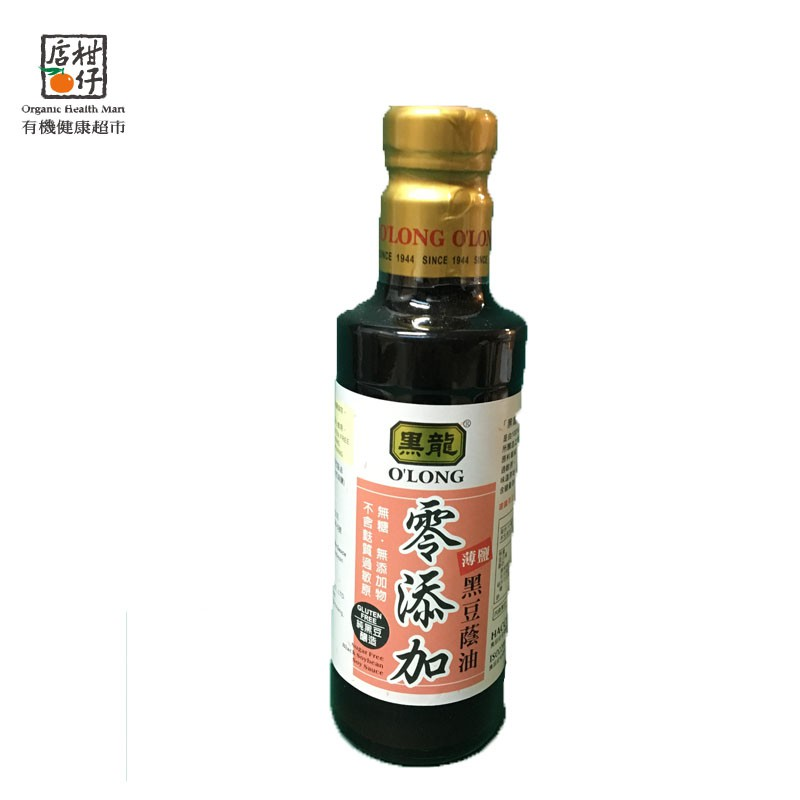 黑龍零添加薄鹽黑豆蔭油 300ml/瓶