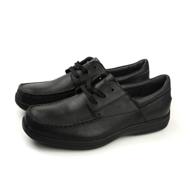 Hush Puppies 休閒皮鞋 天然皮革 寬楦 黑色 男鞋 6174M117101 no085