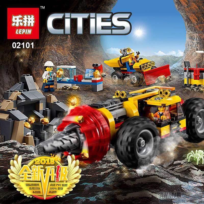 ANMI積木#兼容樂高諾高城市系列重型采礦鉆孔機60186兒童拼裝積木玩具02101