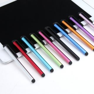 不挑色 電容筆ipad 7.0細長帶夾電容筆 蘋5手寫筆 iphone4/ 4S觸控筆 臺中市