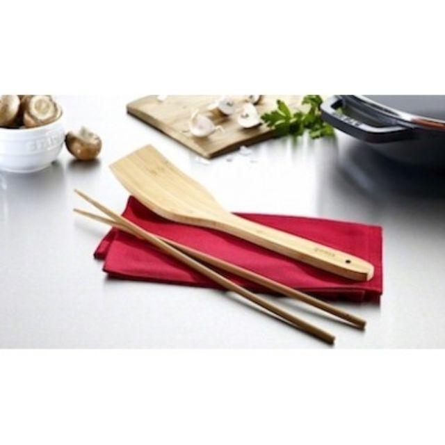 Staub竹製長筷+鍋鏟組(31cm)