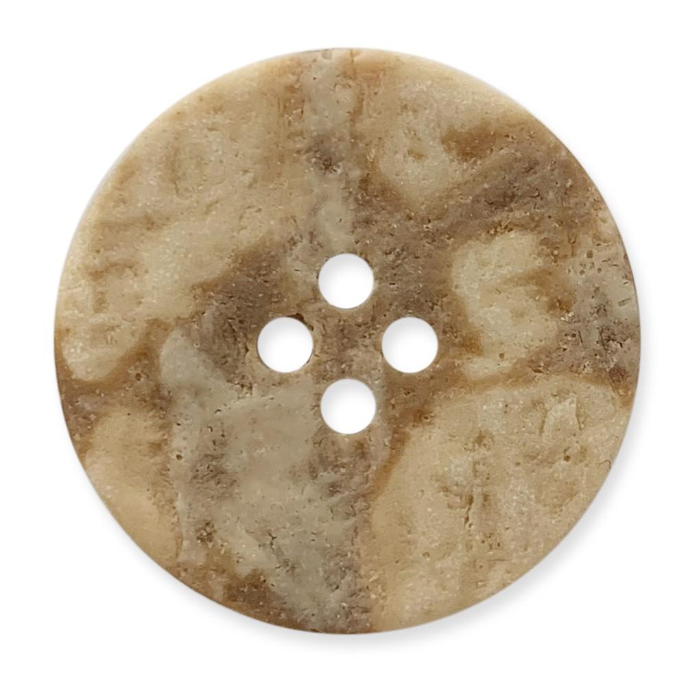 義大利製 樹脂釦 岩石感紋路 4孔 polyester 10顆/組 西服鈕釦 6453 1號色