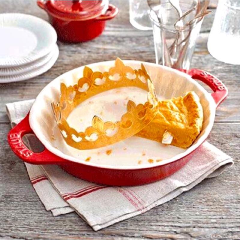 Staub 櫻桃紅/羅勒綠/深藍/白色 雙把圓型波浪烤盤 派盤