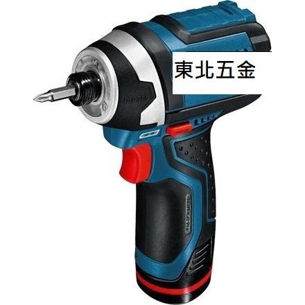 附發票(東北五金)BOSCH 12V GDR 12-LI衝擊式充電起子機2.0Ah雙鋰電池(GDR10.8-LI升級版)
