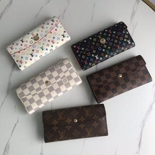 Louis Vuitton 路易威登M20005 女士白色棋盤格 三角蓋 Lv皮夾錢包 手拿包 卡夾 錢夾 長夾錢包 新北市