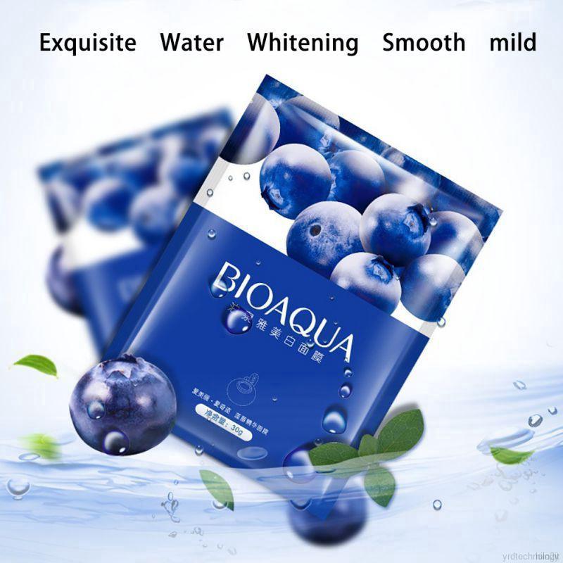 美容保濕面膜覆蓋藍莓保濕面膜面部護理工具鎖