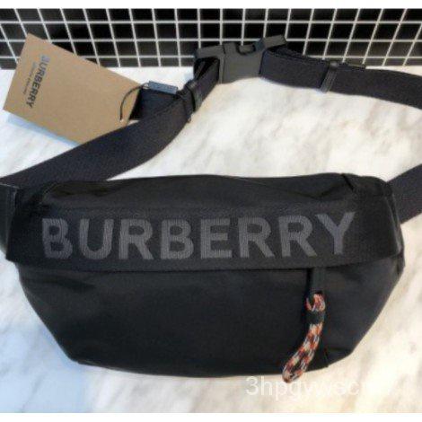 二手正品BURBERRY LOGO徽標細節 腰包
