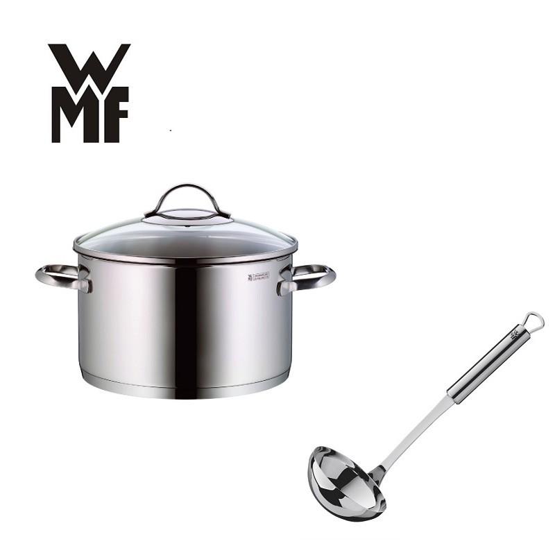 【德國WMF】 PROVENCE PLUS 高身湯鍋(6L)(24CM)+不鏽鋼湯勺(超值組合)
