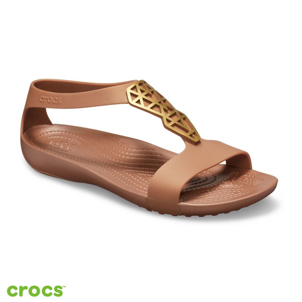 Crocs卡駱馳 (女鞋) 瑟琳娜造型涼鞋-205601-860