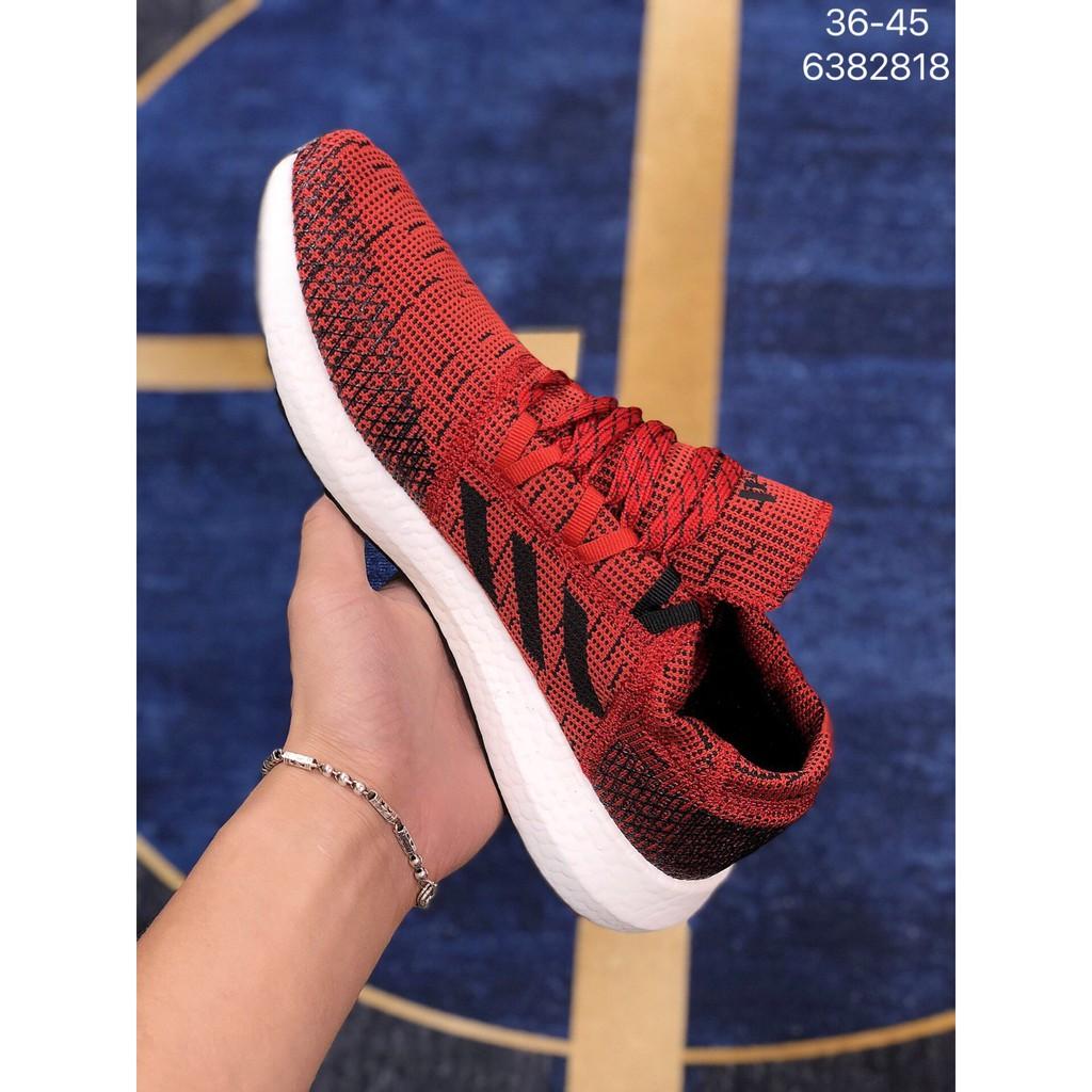 Adidas Pureboost GO LTD愛迪達 爆米花 針織減震跑鞋 時尚情侶鞋 休閒運動鞋