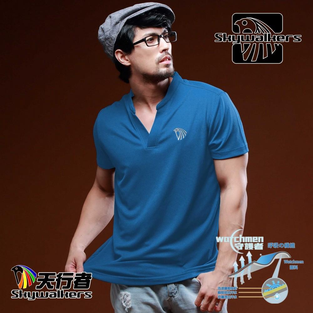 Skywalkers 《男款小立領排汗衫》(共四色)台灣衣料台灣設計台灣製造台灣極致工藝舒適快乾材質