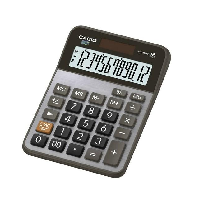 【CASIO卡西歐】12位數商用型計算機/MX-120B