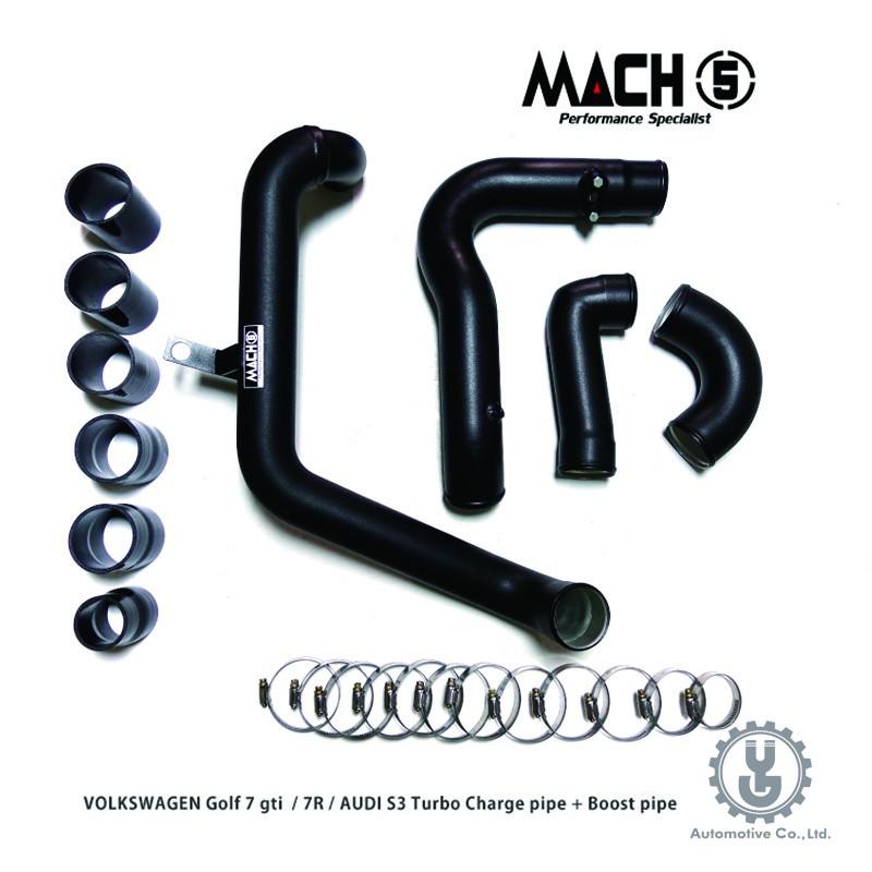 MACH5 高流量帶三元催化頭段 當派 排氣管  VOLKSWAGEN GOLF MK7 R 充電管 底盤系統【YG】