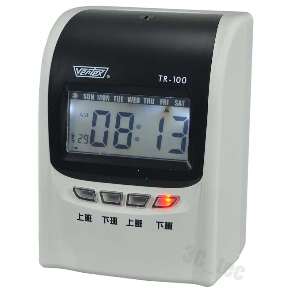 世尚 Vertex TR-100 TR100 停電可打卡 四欄位微電腦打卡鐘 贈卡片卡架