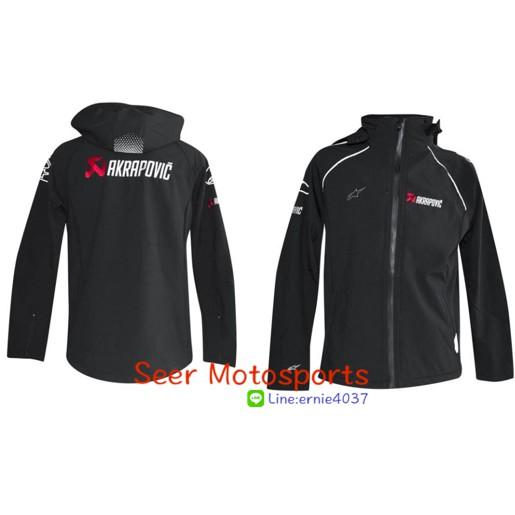 [Seer] 現貨新版 Akrapovic & Alpinestars 蠍子 & A星 風衣外套 外套 防潑水 S-XL