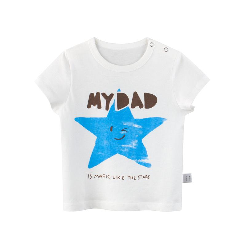 童裝兒童T恤中小童童裝女童短袖上衣孩子的衣服女童短袖t恤