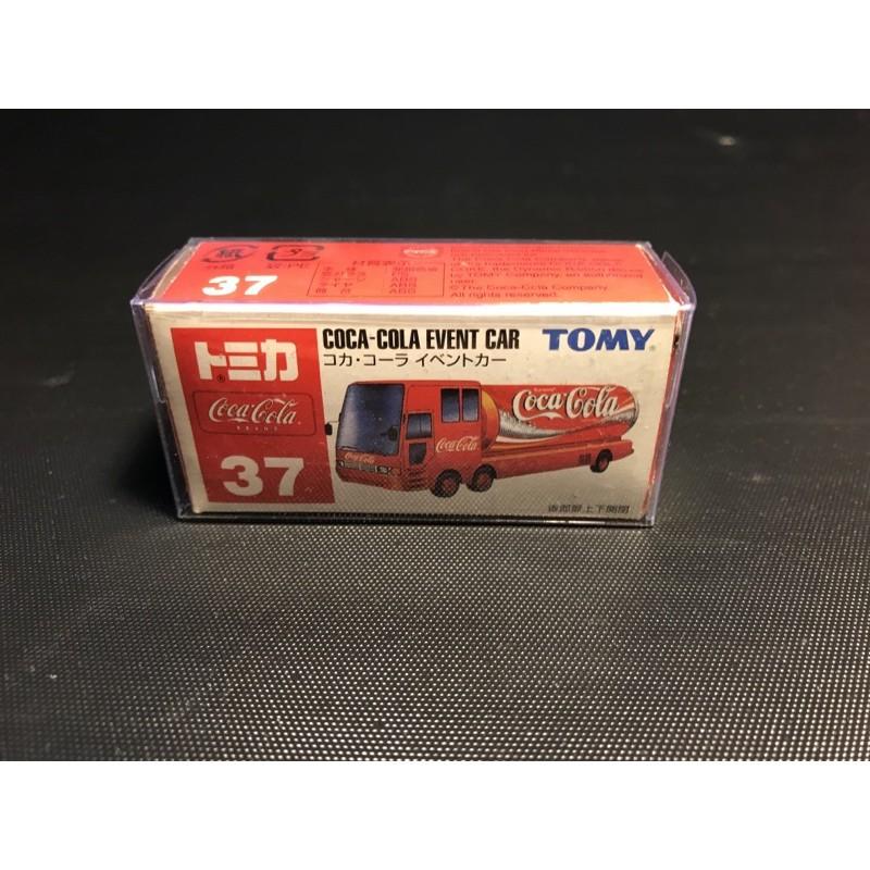 Tomica 37 (舊藍標)絕版 COCA-COLA EVENT CAR 可樂車 附膠盒