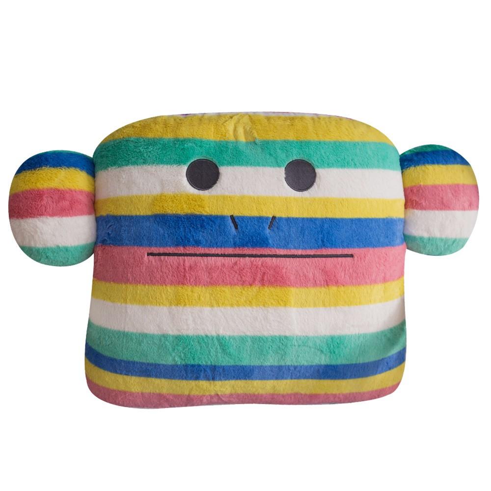 CRAFTHOLIC 宇宙人 療癒彩虹猴大靠枕