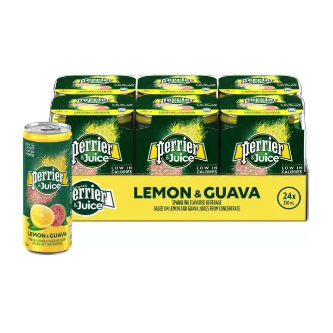 現貨不用等 Perrier 沛綠雅 氣泡綜合果汁 檸檬芭樂口味 250毫升 X 24入 好市多代購 #344057