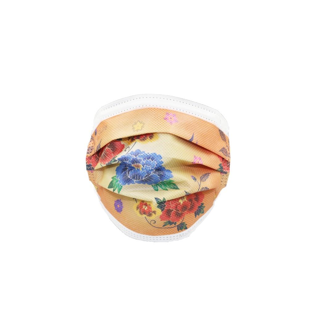 彩色口罩專業人員防護 cLife 台灣製造 (通過 美國FDA 認證標準) 富貴牡丹
