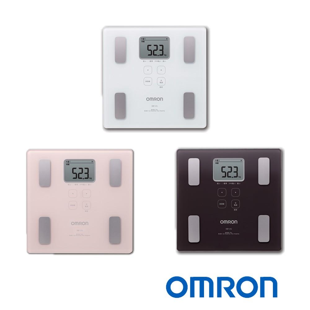 OMRON 歐姆龍 HBF-214 體重體脂計 粉色/白色/褐色 (原廠保固一年) 公司貨非水貨