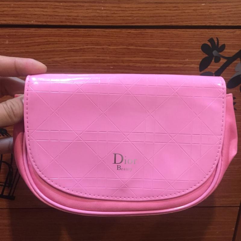 Dior 粉色小心機 彩妝 化妝品 實用包 收納包 正品 實拍