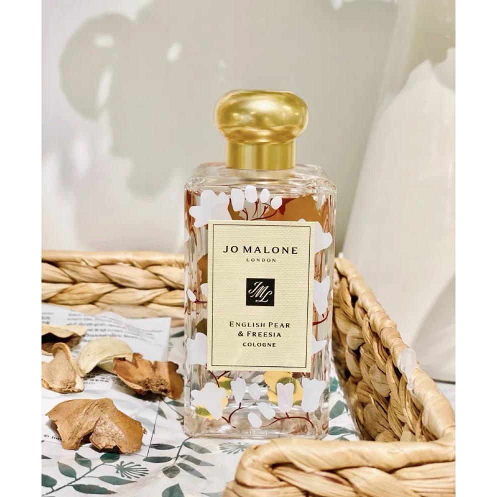 正品代購 法國直郵Jo Malone祖瑪瓏 2021年新年限定香水 英國梨與小蒼蘭 100ml 附購買證明禮袋