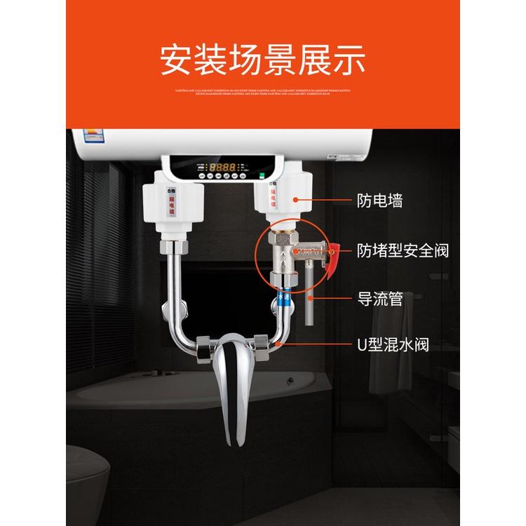 🔱滿減現貨🔱電熱水器安全閥水管道家用單向止回閥通用洩壓閥配件逆止閥減壓閥 Kat2