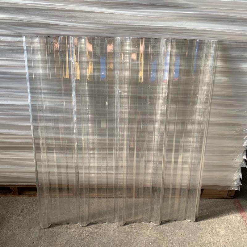 3尺一片 透明 PC 角浪板 窗戶 冷氣主機 遮雨棚 停車場 陽台 採光板 日光板 鐵皮 屋頂 浪板 五槽角浪 塑膠浪板