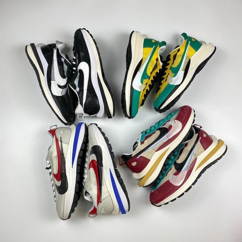 Sacai x Nike VaporWaffle 黑白 灰白 黃綠 紅綠