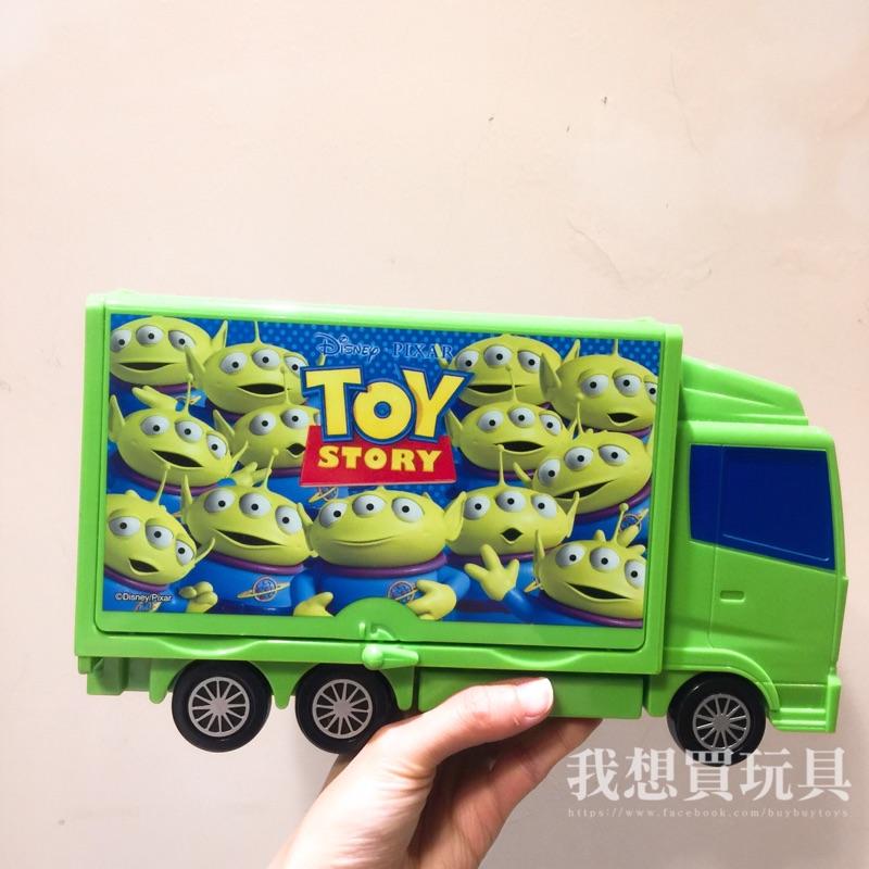 絕版✨現貨 玩具總動員 tomica車車 收納卡車 三眼怪