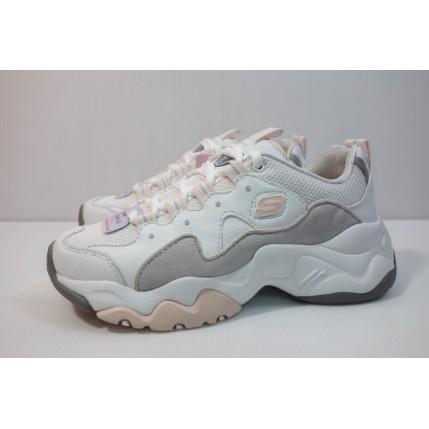 全新SKECHERS DLITE 3.0 白灰粉 12955WGPK 女生 休閒鞋 老爹鞋