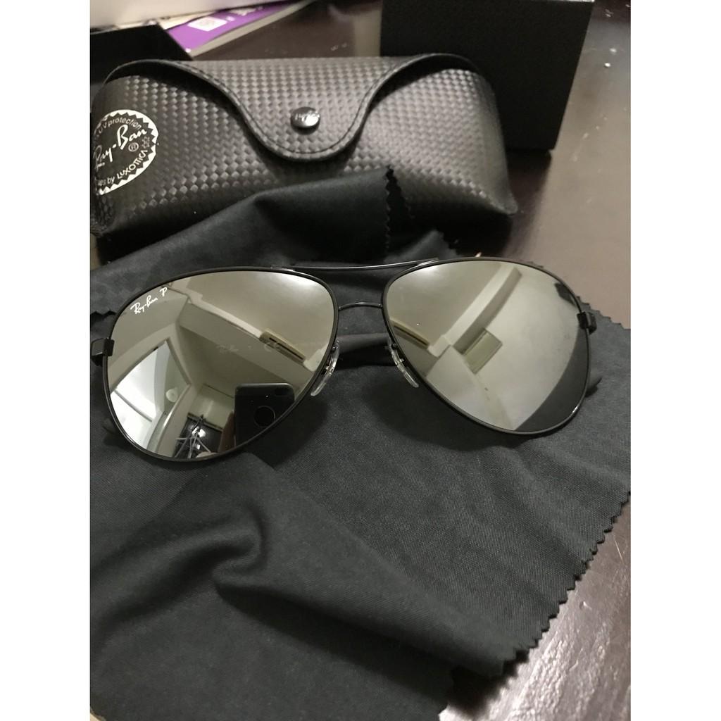 RAY BAN太陽眼鏡 碳纖維/黑 #RB8313 002K7