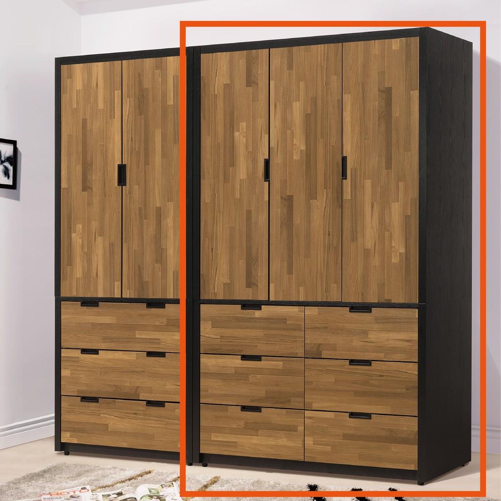【117cm衣櫃-B86-03】木心板 推門滑門開門 衣服收納 免組裝【金滿屋】