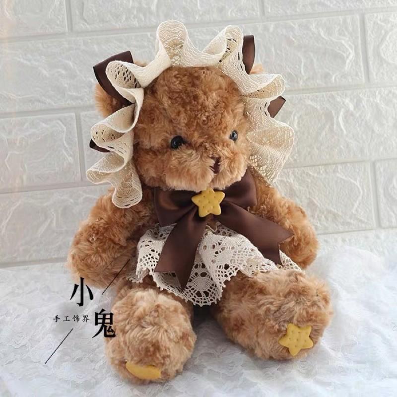 ins軟妹餅乾小熊包  蘿莉塔熊包 雙肩包 斜背包 玩偶包 學院風 少女 甜美 包包