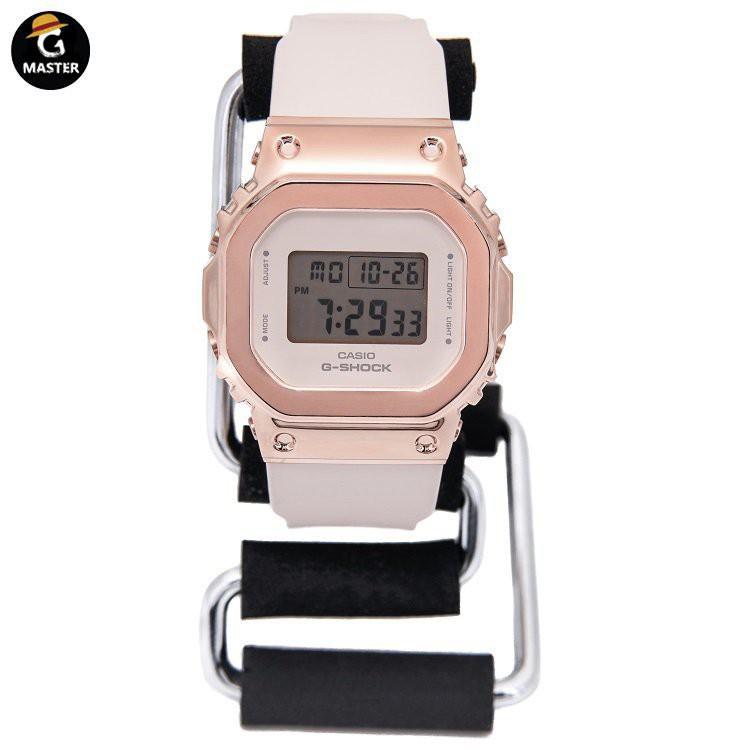 CASIO卡西歐G-SHOCK金屬復古小方塊手錶女款GM-S5600-1/S5600PG-4 ULKR OpHC