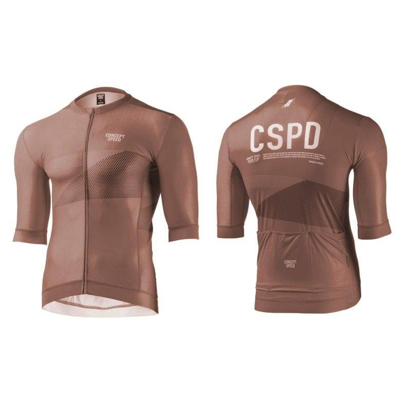 ▼樂威單車▼Conceptspeed 車衣.CSPD車衣.CSPD Jersey-棕色