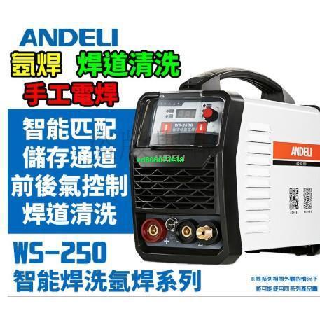 特價熱賣ANDELI安德利WS-250G氬焊機TIG變頻式電焊機WS250雙用焊機220V氬弧焊機IGBT焊道清洗機三用