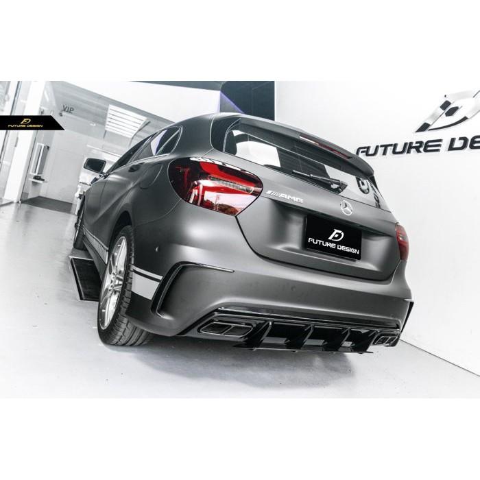 【Future_Design】賓士 W176 AMG專用 升級 新款 A45 原廠材質 亮黑 後下巴 現貨供應 A180