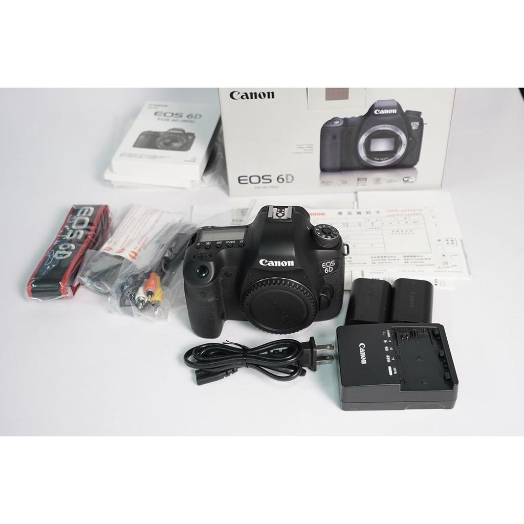 [攝手座二手器材]Canon 6D 單機身-(A機) 快門95,754 公司貨過保 盒單齊